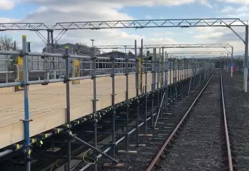 Eastleigh Train Depot scaffolding